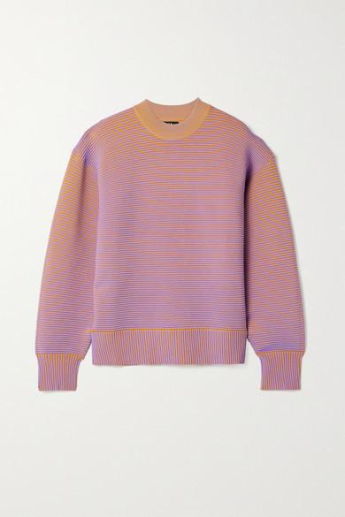 NAGNATA Sonny Ribbed Organic Cotton Sweatshirt - Lavender