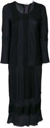 Comme Des Garçons Pre Owned Striped Panelled Dress