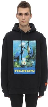 Heron Preston Printed Cotton Jersey Hoodie