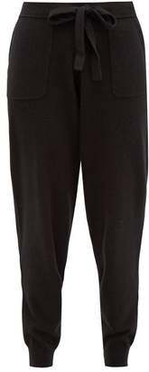 Allude Tapered Leg Wool Blend Trousers - Womens - Black