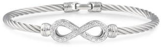 Alor Classique 18K & Stainless Steel 0.23 Ct. Tw. Diamond Cable Bracelet