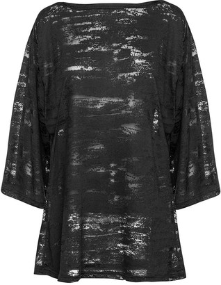 Conquista Semi-Sheer Patterned Tunic