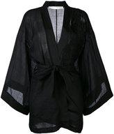 Isabel Benenato belted kimono - women - Ramie - 38