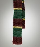 Silk Knit Stripe Tie