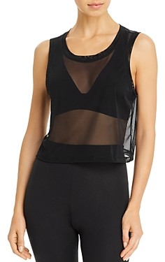 Beyond Yoga Balanced Mesh Cropped Tank