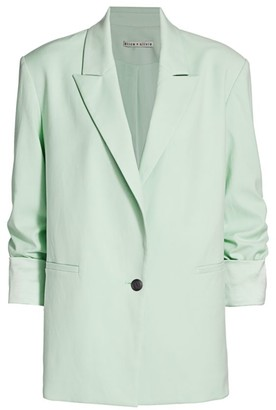 Alice + Olivia Denny Notch Collar Roll-Cuff Blazer