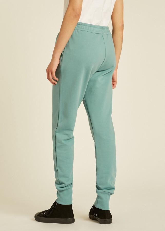 Thumbnail for your product : Paul Smith Women's Pale Turquoise Zebra Logo Organic-Cotton Sweatpants