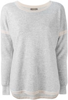 N.Peal cashmere contrast jumper - women - Cashmere - S
