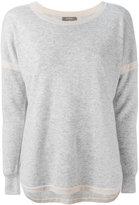 N.Peal cashmere contrast jumper