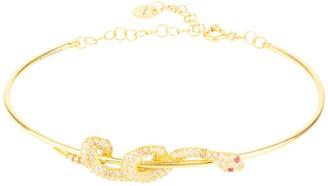 Latelita Cleopatra Serpent Snake Bangle Bracelet Gold