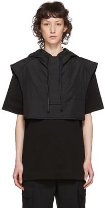 Juun.J Black Nylon Overlay Dress