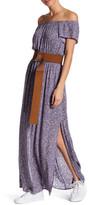 Lush Off-the-Shoulder Print Maxi Dress