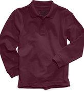 Nautica Boys' Husky Long-Sleeve Uniform Polo