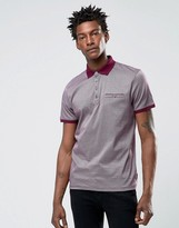 Ted Baker Polo Shirt With Allover Geo Print