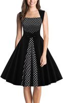 DealBang Women's Retro 1950s Classy Polka Dot Rockabilly Vintage Tea Dress S-5XL (XL, )