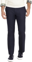Brooks Brothers Milano Fit Plain-Front Linen and Cotton Pants