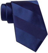 JCPenney Stafford Tonal Stripe Satin Tie - Extra Long