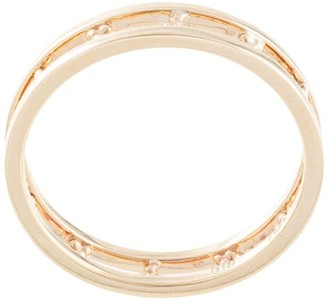 Natalie Marie 9kt yellow gold layered Kadhi cuff ring