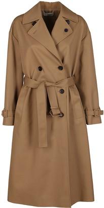 Lardini Beige Cotton Blend Trench Coat