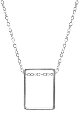 Anchor & Crew Bowen Box Mini Geometric Silver Necklace Pendant