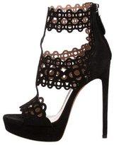 Alaia Laser Cut Cage Sandals