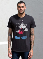 Junk Food Clothing Mickey Mouse Tee-black Wash-l