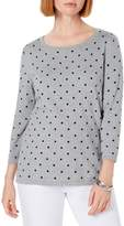 Karen Scott Petite Polka Dot Cotton-Blend Sweater