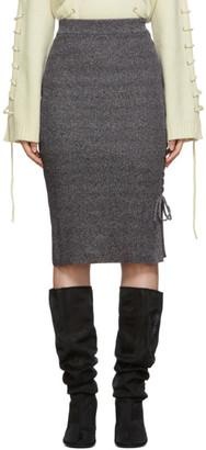 McQ Multicolor Lace-Up Midi Skirt