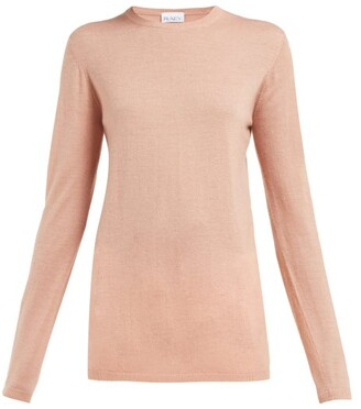 Raey Long-line Fine-knit Cashmere Sweater - Pink