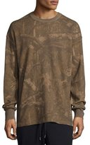 Yeezy Camouflage-Print Thermal Long-Sleeve Tee, Medium Green