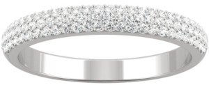 Charles & Colvard Moissanite Pave Wedding Band (3/8 ct. t.w. Dew) in 14k White Gold