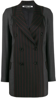 McQ striped double-breasted jacket