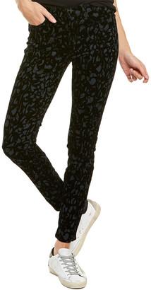 J Brand Olive Brocade Super Skinny Leg Jean