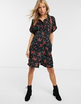 Brave Soul hanna dress in dark floral