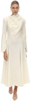 MATÉRIEL Wool Blend A Line Midi Dress
