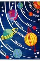 Fun Rugs Solar System Kids Rug - Size 5ft 3in x 7ft 6in