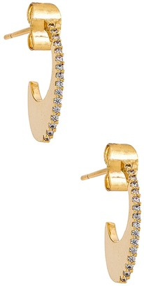 Tai Oval Huggie with Pave Accents