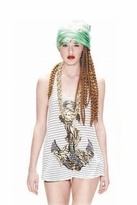 Lauren Moshi Lily Anchor Swing Tank in Stripes