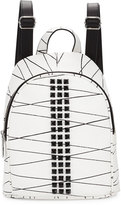 L.A.M.B. Jessa Studded Leather Backpack, White/Black