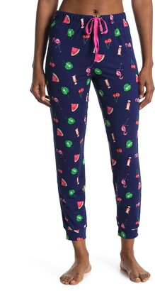 Kensie Fruit And Flamingo Jogger Pants
