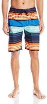 Kanu Surf Men's Halo Stripe Swim Trunks