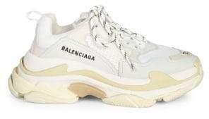 Balenciaga Men's Triple S Trainer Sneakers - White - Size 40 (7) E