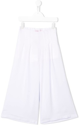 Miss Blumarine Wide-Leg Pleated Trousers