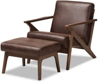 Brown Leather Chair With Ottoman Shopstyle