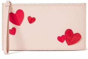 Kate Spade Adra Appliqued Textured-leather Pouch