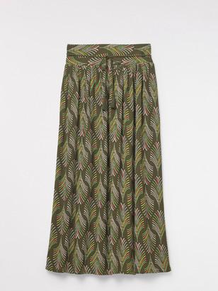 White Stuff Crinkle Palm Woven Maxi Skirt