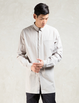 Stampd Grey L/S Elongated Button Down Shirt