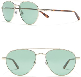 Gucci 54mm Aviator Sunglasses