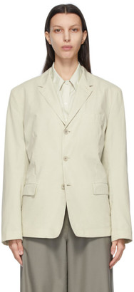 Lemaire Beige Ventile Soft Single Breasted Blazer