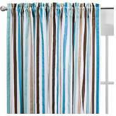 Bacati Curtain Panel - Aqua/chocolate Mod Stripes